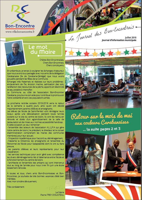 page couv Journal Juillet 2018